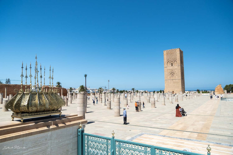 esplanade tour hassan rabat maroc