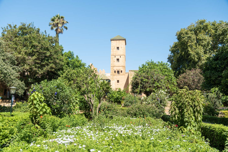 jardin andalou rabat maroc