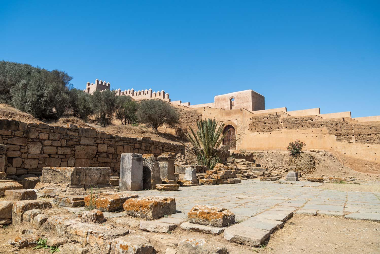 vestiges nécropole chellah rabat maroc
