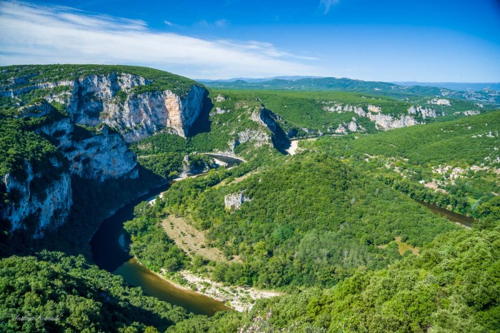 panorama gorges ardeche